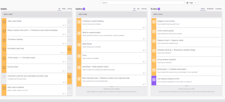 habitica to-do list app