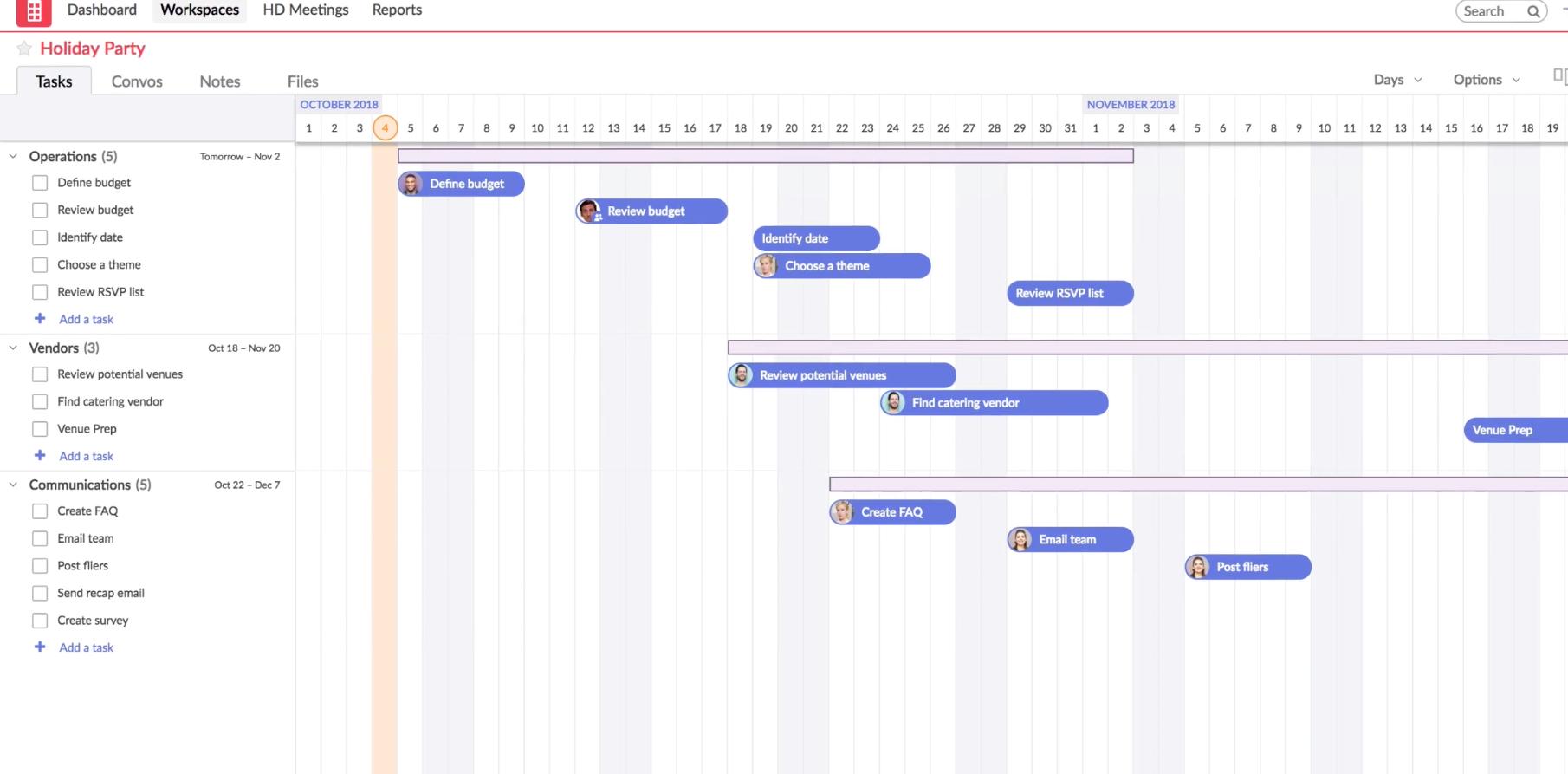 Redbooth Gantt Chart Software