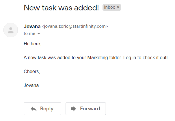 Gmail notification via Zapier