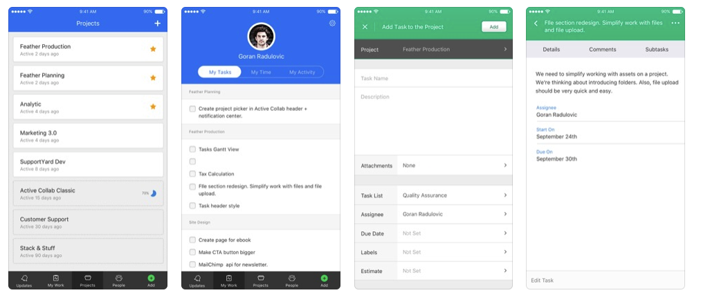 ActiveCollab To Do List App