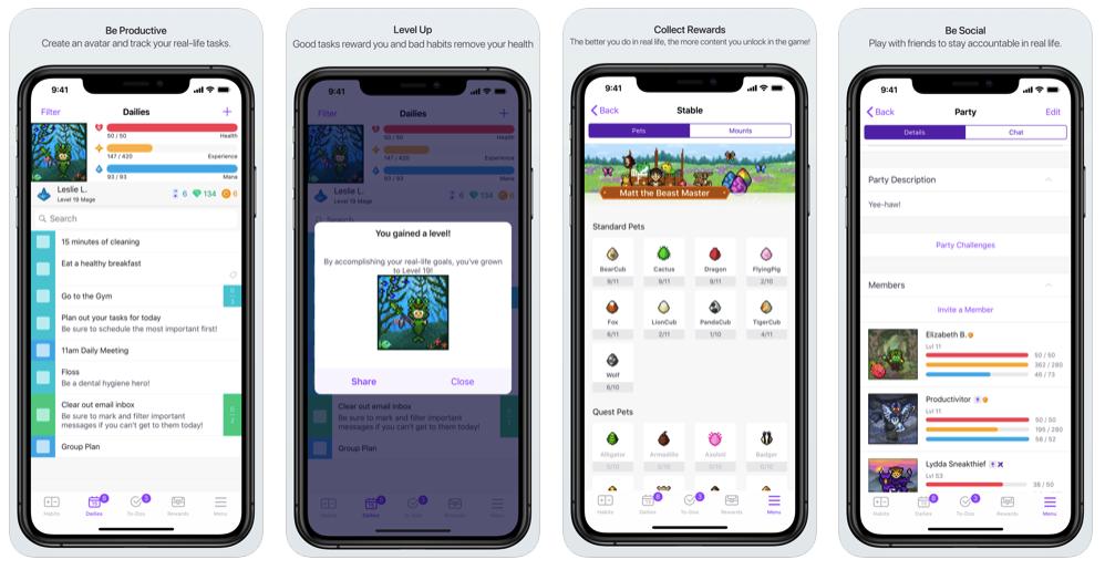 Habitica To Do List App