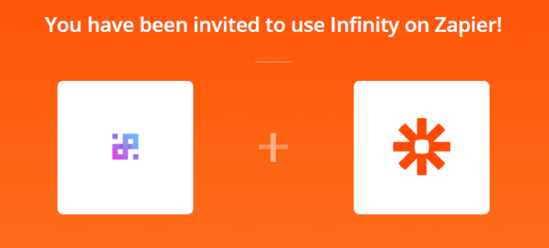 Invitation to Use Infinity on Zapier