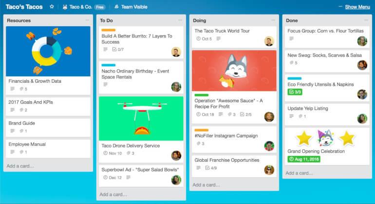 trello to-do list app