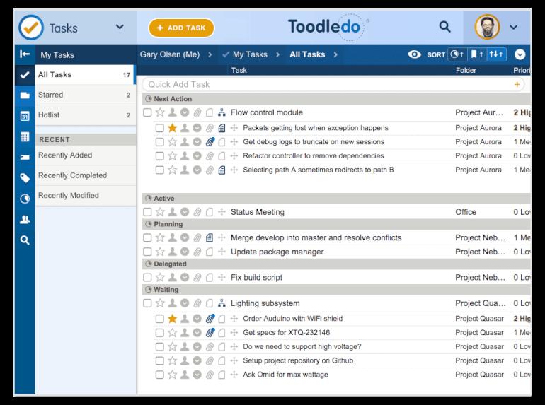 toodledo to-do list app