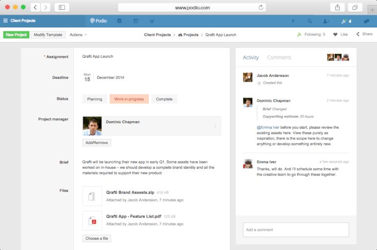 Podio Work Management Software