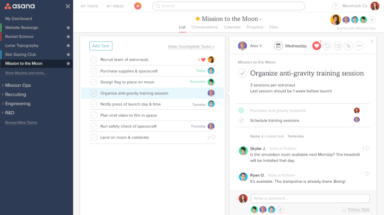 Asana Online Collaboration Tool