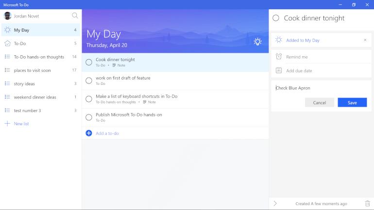 microsoft to do to-do list app